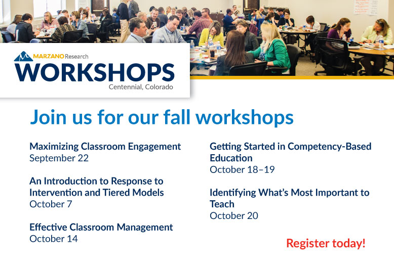 All Fall Workshops