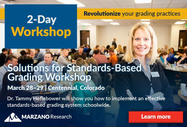 Standards Based Grading Workshop